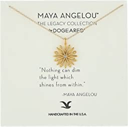 "Dogeared ""Nothing Can Dim The Light..."" Star/Starburst w/ Crystal Charm Necklace"