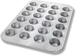 USA Pan Bakeware Mini Cupcake and Muffin Pan, Nonstick Quick Release Coating, 24-Well, Aluminized Steel