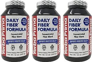 Yerba Prima Daily Fiber Formula Powder - 12 oz (Pack of 3)