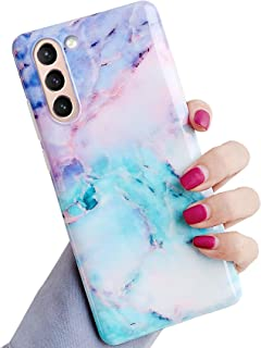 J.west Galaxy S21 Plus 5G Case 6.7-inch, Marble Print Pattern Design Cute Graphics Stone Slim Protective Sturdy Phone Case...