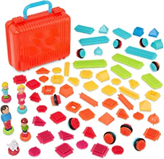 Bristle Blocks by Battat – Interlocking Building Blocks – 85pc Playset – Soft Developmental Toys – Big Value Case – For To...