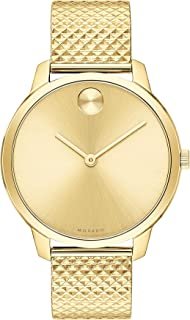 b511956af Movado Bold, Pale Yellow Gold Ion-Plated Stainless Steel Case, Pale Yellow  Gold