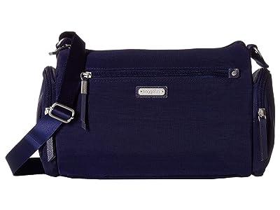 Baggallini Road Trip Hobo with RFID Phone Wristlet (Navy) Handbags