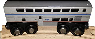 Transitional Sleeper Amtrak Wooden Train Superliner Sleeping Car 4.25 inch Compatible with Other Railroads
