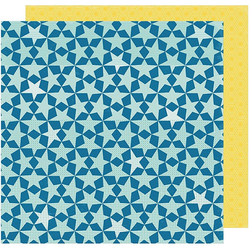 American Crafts 374028 Shimelle Star Shine Double-Sided Cardstock (25 Sheets Per Pack), 12
