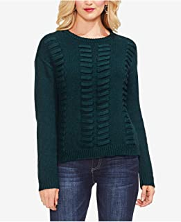 Vince Camuto Laced-Knit Sweater, Hunter, S