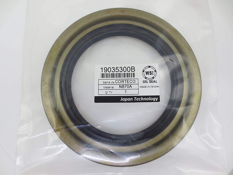 WSI 19035300B Wheel Hub Seal Max 49% OFF for Raleigh Mall Corteco Shaft