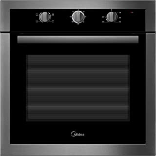 Midea 65CME10104 Built In Electric Oven 60 cm Silver-Black, 1 Year Warranty