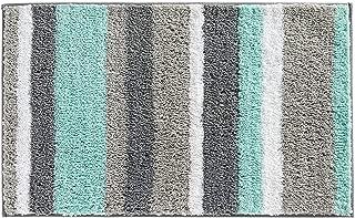 HEBE Non-Slip Bathroom Rugs Mat Soft Microfiber Bath Mats for Bathroom Absorbent Bath Floor Rug Machine Washable,20
