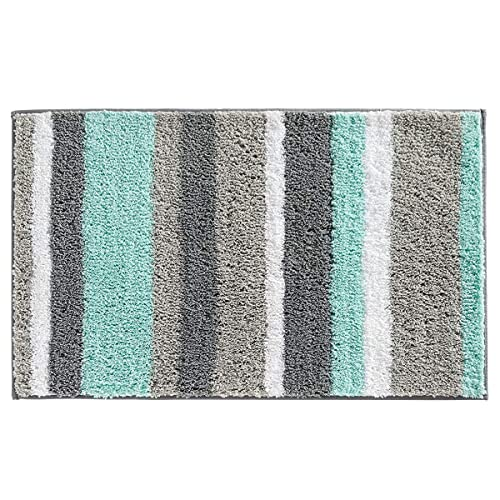 Teal Blue And Grey Bathroom Rugs Amazon Com