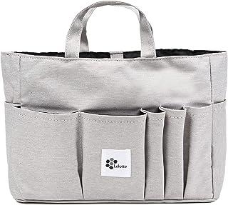 バッグインバッグ トート用 自立 軽量 ヨコ インナーバッグ 横 トラベルポーチ トートバッグ 収納 E-IN-BAG