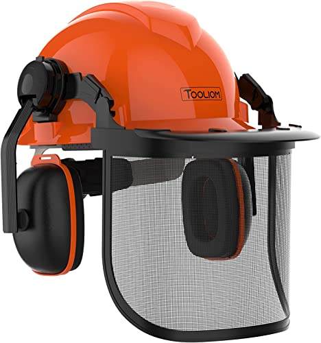TOOLIOM Chainsaw Helmet Safety Forestry Helmet Safety Protective Helmet with Anti-Fog Goggles