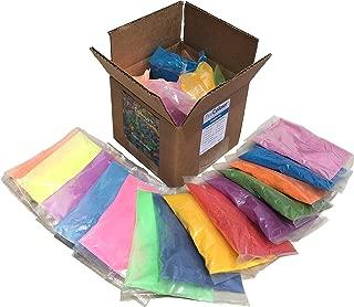 Holi Color Powder | Celebration Powder | Super Sample Kit | 14 (75 gram bags) | Pink, Green, Red, Blue, Midnight Blue, Yellow, Orange, Green, Purple - NEON Pink, Green, Yellow, Blue, Orange and Purple