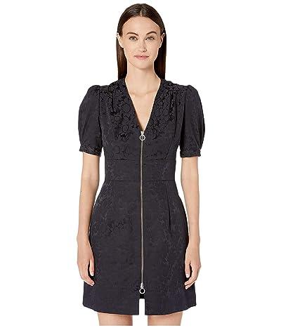 JILL JILL STUART Front Zipper Mini Dress (Black) Women