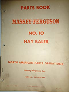 Massey Ferguson MF 10 Hay Baler Parts Catalog Book Manual 2/62