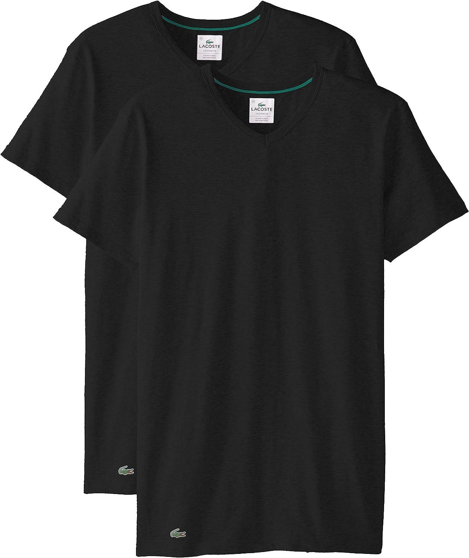 Lacoste Men's 2-Pack Colours Stretch T-Shirt latest Mail order cheap V-Neck Cotton
