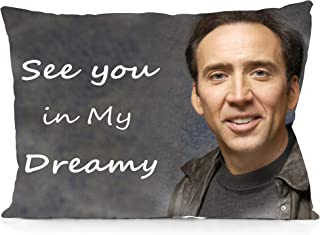 DoubleUSA Nicolas Cage-See You in My Dreamy Pillowcases Two Sides Print Zipper Pillow Covers 20