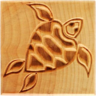 "MKM Pottery Tools""Stamps 4 Clay"" Large Square Decorative Stamp for Clay (Ssl-19 Sea Turtle)"