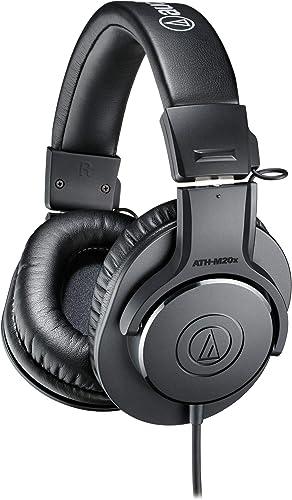 Audio-Technica ATH-M20X Comfortable Monitor Headphones, Black (at ATH-M20X)