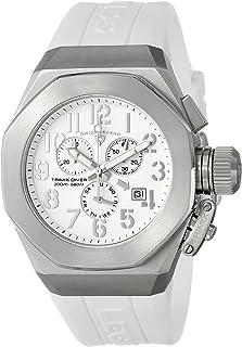 Men's 10542-02-SA Trimix Diver Chronograph White Dial White Silicone Watch