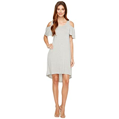 B Collection by Bobeau Sawyer Cold Shoulder Knit Dress (Heather Grey) Women