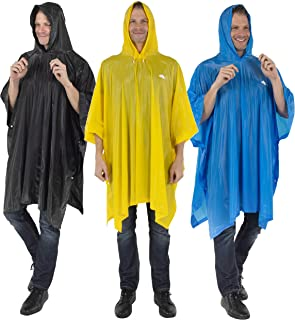 Reusable Rain Poncho for Adult Thick PVC Breathable material Hood string Snap Closure Premium Emergency Raincoat for Men and Women Everyday Use Waterproof Rain Cover for all Outdoor Activities