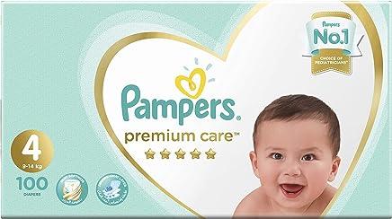 Pampers Premium Care Diapers, Size 4, Maxi, 9-14 kg, Mega Box, 100 Count
