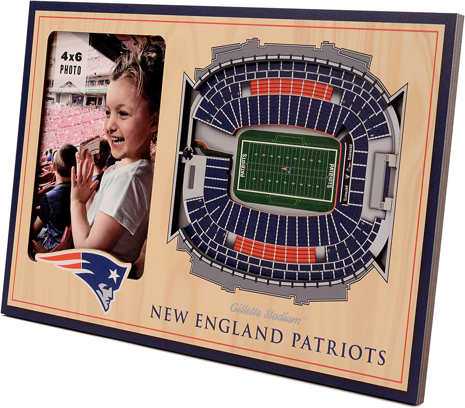 NFL Award New Complete Free Shipping England Patriots Frame 3D Picture StadiumViews
