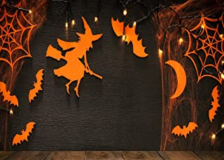 AIIKES 7x5FT Halloween Pumpkin Background Bat Background Scary Witch Photography Decoration Background Newborn Portrait Ba...