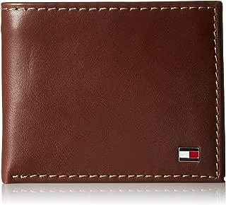 Men's Leather Logan Passcase Bifold Wallet with Zipper Bill Slot