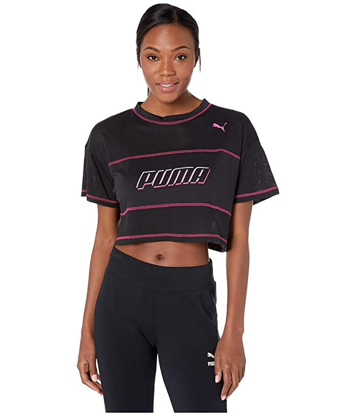 PUMA Modern Sports Cropped Tee (Cotton Black) Women