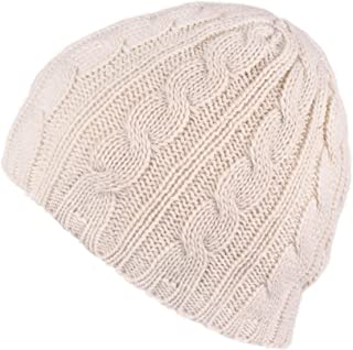 C.C Women's Knitted Beanie with Chunky Flower Accent (HAT-31) (YJ-31A)