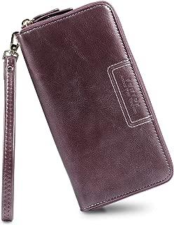 FT Funtor Wristlet Wallets for Women, Ladies PU Vegan Leather Clutch Wallet Zip around Phone Purse Card Holder Organizer