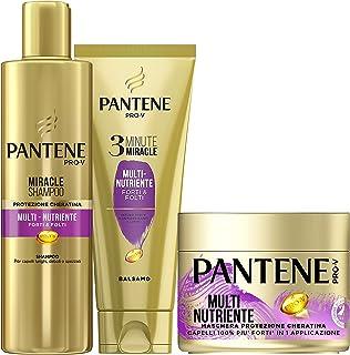 Pantene Pro-V Multinutriente 1 Miracle Shampoo 250ml + 1 Balsamo Capelli 3 Minute Miracle 150ml + 1 Maschera Capelli 300m...