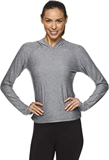 HEAD Women's Lightweight Pullover Cropped Hoodie - Workout & Running Athletic Sweatshirt