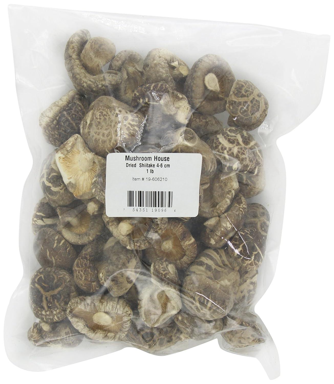 Mushroom House Dried Mushrooms, Shiitake, 4-6 CM, 1-Pound