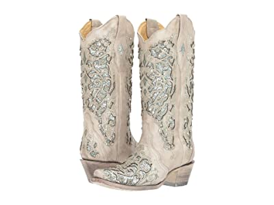 Corral Boots A3321 (White/Green) Cowboy Boots