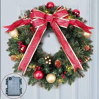 light up window wreath
