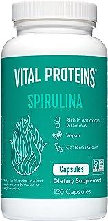 Sponsored Ad - Spirulina Powder Pills 650mg 120 Capsules - Vital Proteins High in Vitamin A & K, Vegan Friendly A