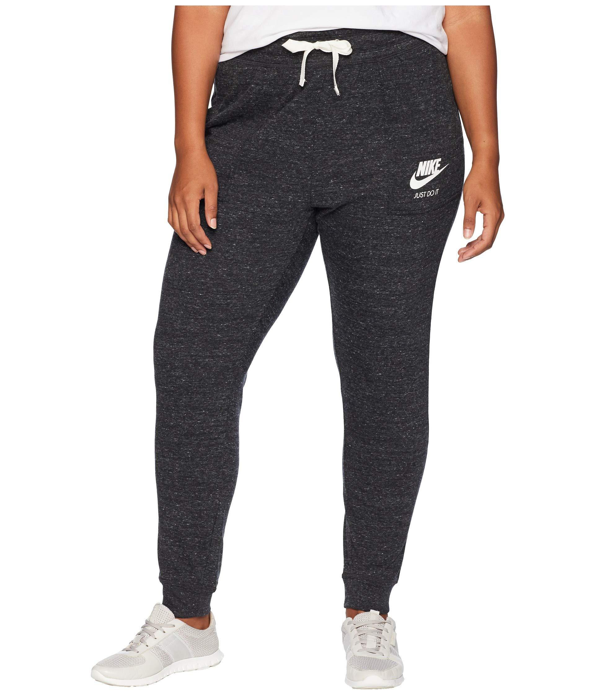 Vintage Black Pants Plus sail Nike Gym Extended Size pqxgWwPR