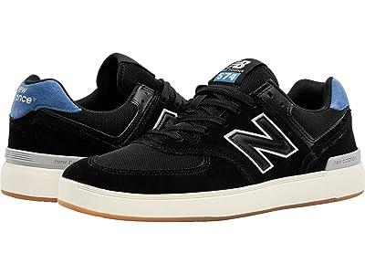 New Balance Numeric AM574 (Black/Blue 1) Skate Shoes