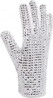 MJB2C - Michael Jackson マイケルジャクソン仮装 手袋 グローブ 片面 右手...