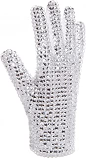 Style of Michael Jackson Glove-Ultimate Collection Diamond Gloves-White