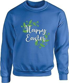 Hippowarehouse Happy Easter Unisex Jumper Sweatshirt Pullover (Specific Size Guide in Description)