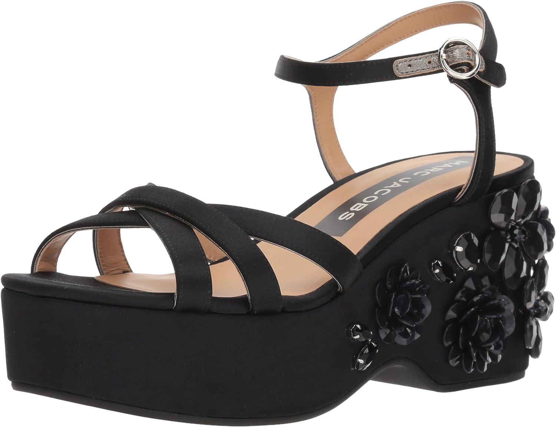 Marc Jacobs Womens Callie Embellished Wedge Sandal Wedge Sandal