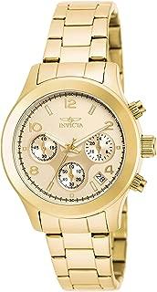 Invicta 19217 Angel Women's Wrist Watch Stainless Steel Quartz Gold Dial