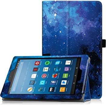 "Famavala Folio Case Cover for PREVIOUS Generation 8"" Fire HD 8 Tablet [8th / 7th / 6th Generation 2018/2017 / 2016 Release ] (BlueSky)"
