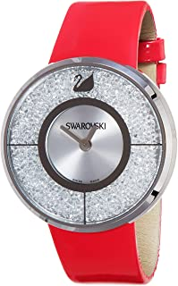 Swarovski Womens Quartz Watch, Analog Display and Leather Strap 5096698