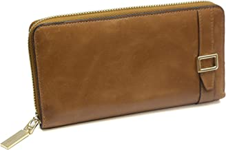 ID Stronghold Womens RFID Belted Ziparound Clutch - Stunning Quality Leather
