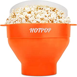 The Original Hotpop Microwave Popcorn Popper, Silicone Popcorn Maker, Collapsible Bowl Bpa Free and Dishwasher Safe- 17 Co...